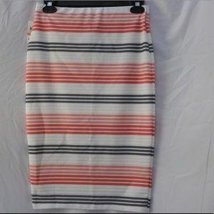 Strip Pencil Skirt